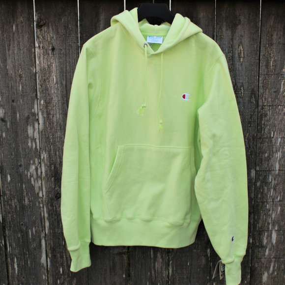 d584fcdb30a8 Champion Reverse Weave Hoodie Urban Outfitter Lime